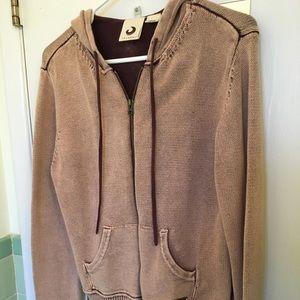 Tan 100 percent cotton sweater hoodie